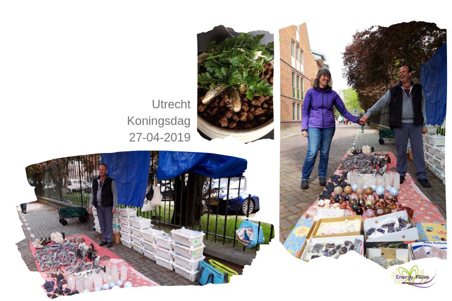 afb Energy Flows op de 'kleedjes'-markt in Utrecht